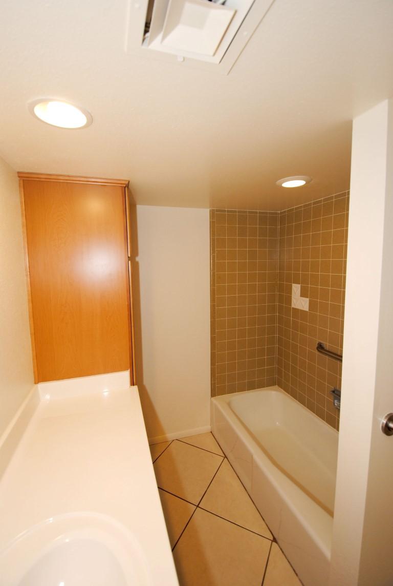 Arcadia lite mid century modern rental for Sit down shower tub